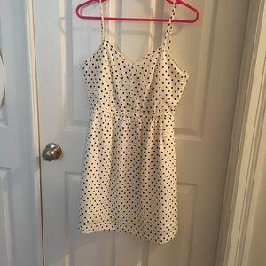 Black and white polka dot dress- JCREW
